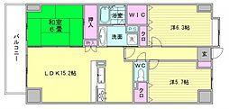 パロス美野島[5階]の間取り