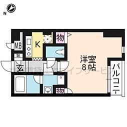 クオリカ西京極[305号室]の間取り