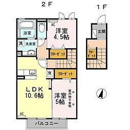 ベル・プリム[2階]の間取り