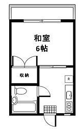 東京都大田区北馬込2丁目の賃貸マンションの間取り