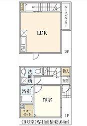 新築T&T松が枝[B号室]の間取り