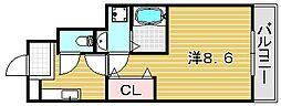 大阪府吹田市岸部中4丁目の賃貸アパートの間取り