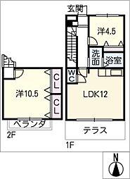 La.Zona roza[2階]の間取り