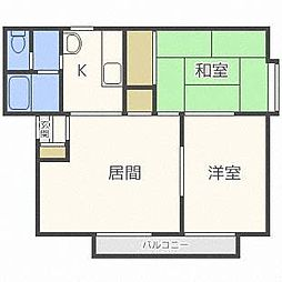 西麻生弐番館[1階]の間取り