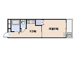 第1パークサイドマンション[3階]の間取り