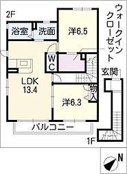 ウイングT[2階]の間取り