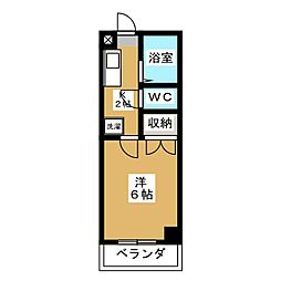 マンション八木倉[5階]の間取り