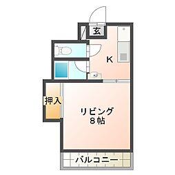 サクセスマンション[306号室]の間取り