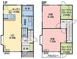 [テラスハウス] 青森県八戸市田向4丁目 の賃貸【/】の間取り