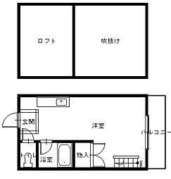長崎県長崎市上西山町の賃貸アパートの間取り