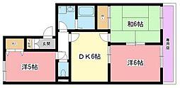 ヴァンベールA棟[2階]の間取り