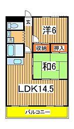 エクセレント富士見台[106号室]の間取り