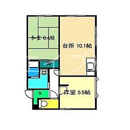 メゾン・セフィラ A棟[1階]の間取り