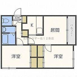 アーバンコート藤井[4階]の間取り