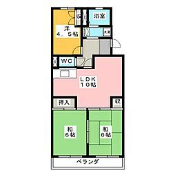 リバーサイド富士[1階]の間取り