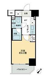 東京メトロ有楽町線 東池袋駅 徒歩3分の賃貸マンション 2階1Kの間取り