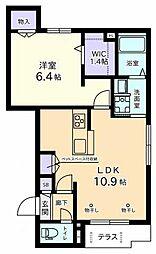 (仮称)元横山町Aマンション 1階1LDKの間取り