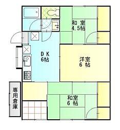 [一戸建] 徳島県徳島市南佐古五番町 の賃貸【/】の間取り