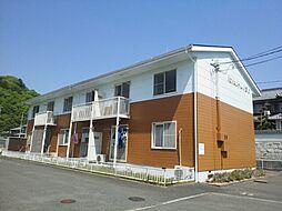岡山県岡山市北区御津金川の賃貸アパートの外観