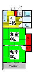 新山ハウス[2階]の間取り