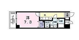 京急本線 北品川駅 徒歩5分の賃貸マンション 3階1Kの間取り