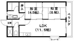 センチュリーマンションII[2階]の間取り