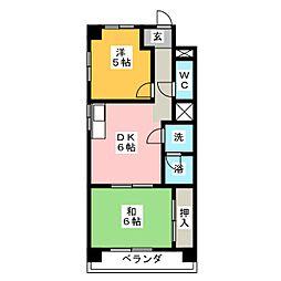 松原メイトマンション[3階]の間取り