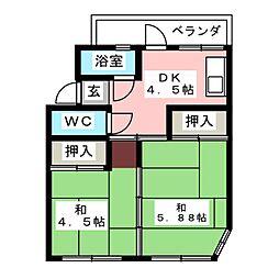稲沢第二センター[3階]の間取り