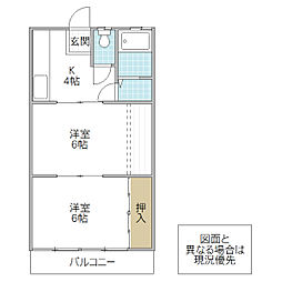 鈴木アパート[204号室号室]の間取り