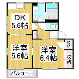エントピアIKEDA C棟[2階]の間取り