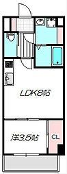 Osaka Metro谷町線 守口駅 徒歩5分の賃貸マンション 5階1LDKの間取り