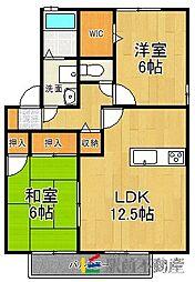 グランシャリオ篠隈C棟[2階]の間取り