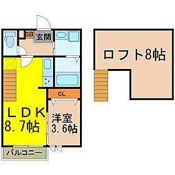 Ampio ATSUTA (アンピオアツタ)[2階]の間取り