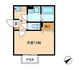 セピアコート[1階]の間取り
