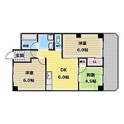ロイヤルサカエマンション[3階]の間取り