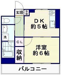 モンクレール[2階]の間取り