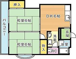 福寿III[2階]の間取り