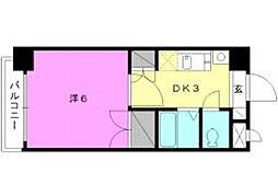 ロイヤルハイツ清水町[407 号室号室]の間取り