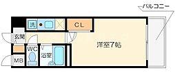 エスリード梅田東[7階]の間取り