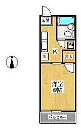スカイパルE[1階]の間取り