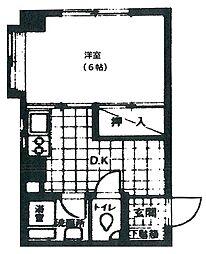 東京都葛飾区堀切2丁目の賃貸マンションの間取り