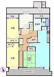 T-one MIYAHARA[6階]の間取り