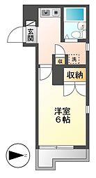 レオパレスRX豊田本町[2階]の間取り