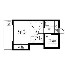 愛知県稲沢市駅前2丁目の賃貸アパートの間取り