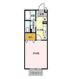 セレーノC[2階]の間取り