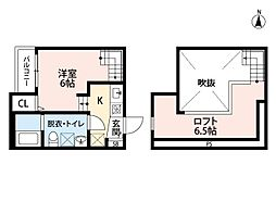 Casa Esperanza 田島(カーサ・エスペランサ)[203号室]の間取り