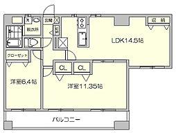 コートK7[7階]の間取り