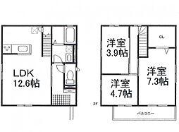 [一戸建] 兵庫県姫路市八代緑ケ丘町 の賃貸【/】の間取り