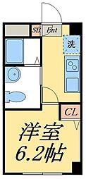 京成押上線 四ツ木駅 徒歩10分の賃貸マンション 4階1Kの間取り