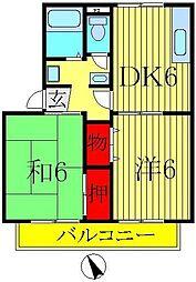 セジュール東初石II[1階]の間取り